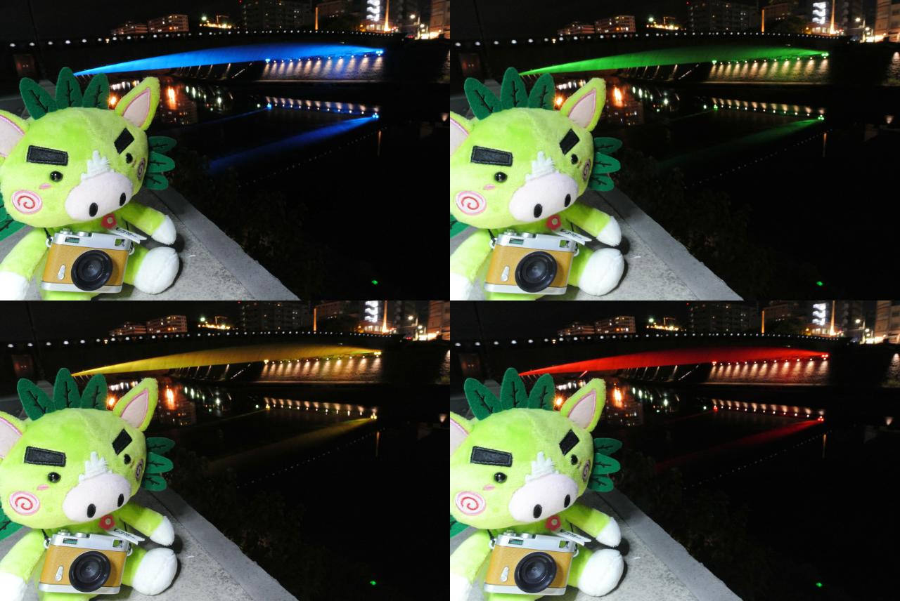 西田橋ライトアップ2
